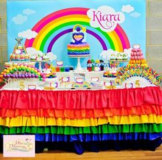 rainbow birthday party ideas - Buscar con Google