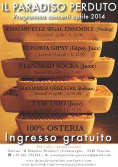Programma concerti aprile 2014