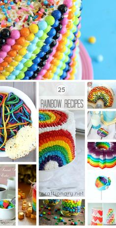 Do you celebrate St. Here are a few carefully chosen rainbow recipes from sweet to savory that will put you in a colorful mood. Feel lucky as you feast on these yummy beautiful ideas inspired by rainbow colors. Rainbow Pizza, Rainbow Jello, Rainbow Food, Rainbow Party Favors, Rainbow Parties, Pizza And More, Paddys Day, St Patrick, Rainbow Colors