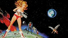 Japanese Girl Barbarella Vintage Poster Hd   Wallpaper