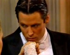 """Matthew Ashford as Jack Deveraux, 1990.  Image inspiration for Edmund, the hero of upcoming """"Into the Lair."""" Devilish investigative reporter/newspaper owner with a very dark secret--and a passion for the mysterious, out-of-her-time heroine Emma. Screencap taken from video courtesy of billyjill."""