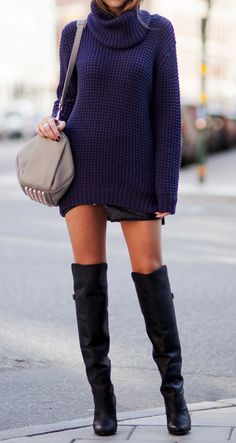 Knee high boots. I wish my legs were long enough for these