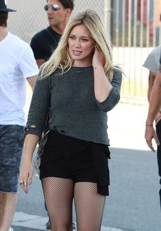 Hilary Duff Shooting Her Music Video For 'All About You'