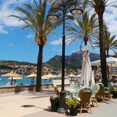 Täydellinen lounaspaikka bongattu Puerto de Sóllerista. Merinäkymä, aurinko ja rauhallinen tunnelma, kaikki kohdallaan. #aurinkomatkaaja #sóller #kesäloma