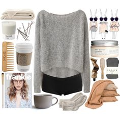 Untitled #961 by susannem on Polyvore featuring polyvore мода style VPL Wet Seal Toast Falke Eve Lom H&M Aesop The Body Shop Philip Kingsley sOUP Pantone Scapa Home