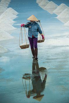 Salt Field Worker, Vietnam