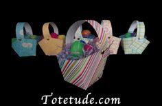 DIY Easter Basket with template and tutorial via Totetude.com