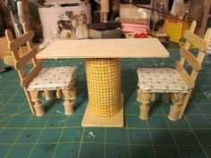 CardboardKitchen3 | For the table, I cut the cardboard roll … | Flickr