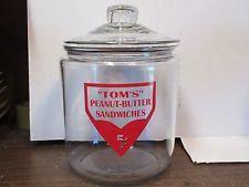 Tom's peanut-butter sandwiches 1 GAL JAR w/ LID, TOMS, LANCE PEANUT, FRITO STORE