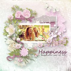 Layout using {Happiness Way } Digital Scrapbook Kit by Eudora Designs available at PBP  https://www.pickleberrypop.com/shop/manufacturers.php?manufacturerid=173
