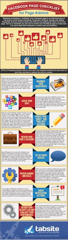 Infographic: Facebook Page Checklist for Page Admins