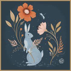Rabbit illustration by Lisa Perrin  www.madebyperrin.com