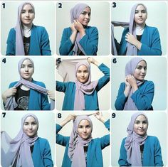 This is not a hijab. Hijab means covering your beauty and be modest. Hijab Simple, Simple Hijab Tutorial, Hijab Style Tutorial, Islamic Fashion, Muslim Fashion, Hijab Fashion, Women's Fashion, Fashion 2020, Modest Fashion