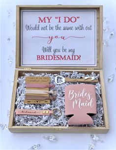 Ask Bridesmaids To Be In Wedding, Will You Be My Bridesmaid Gifts, Asking Bridesmaids, Bridesmaid Gift Boxes, Bridesmaid Proposal Gifts, Brides Maid Gifts, Bridesmaid Invitations, Box Invitations, Groomsmen Proposal