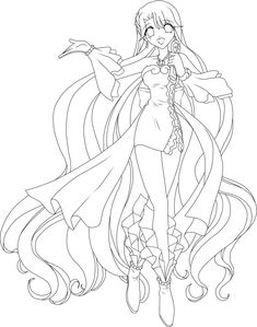 Lineart Original Link Free For Colour But Show Me Your Results Credit Mermaid Melody