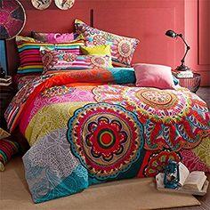 Amazon.com: FADFAY Home Textile,Boho Style Bedding Set,Boho Duvet Cover Set,Bohemian Bedding Set,Queen,4Pcs: Home & Kitchen