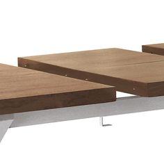 Crossed leg walnut extending dining table