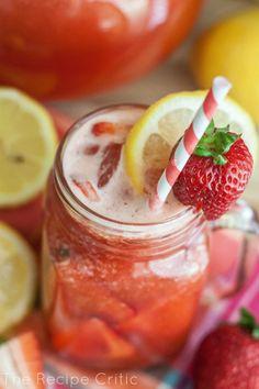 Homemade Strawberry Lemonade - The Recipe Critic