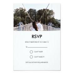 #modern - #Modern wedding photo RSVP card