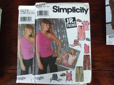 Second Silver - Jr trend 7 tops shirts long short no sleeve, cap, backpack, hoodie, sewing pattern sz 3-24