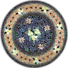 KNF Tuscan Lemons Grey Mosaic Table