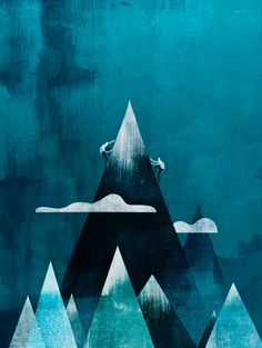 http://www.keithnegley.com/ climbing mountain illustration