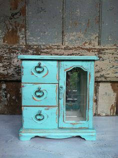 Shabby Chic Jewelry Box by TheVintageBeach on Etsy, $58.00