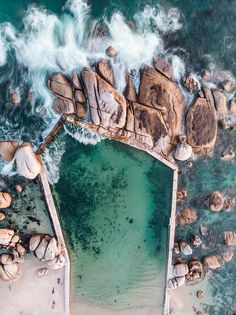 Maidens Cove tidal pool, Cape Town, South Africa. Place To Shoot, Drone Photography, World Traveler, Aerial View, Cape Town, Cinematography, South Africa, Drones, African