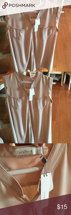 Beige long tank. Size s Long beige blouse sleeveless size s/p costa blanca Tops Blouses