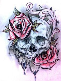 Skull tattoo sketches by Giannis Karampetsos - Skullspiration.com - skull designs, art, fashion and more