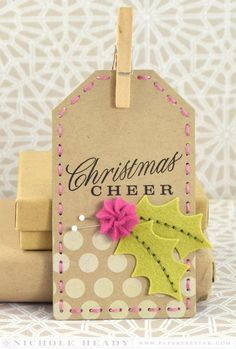 Christmas Cheer Tag by Nichole Heady for Papertrey Ink (October 2014)