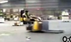 56 seconds of people completely failing at driving forklifts. I'm in TEARS at the last 5 seconds! How does that happen!?!?!