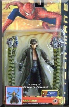 "Includes 5"" Doc Ock figure with 4 bendable Tentacles! & removable glasses. Brand new factory sealed. Official Movie Merchandise.  Only $39.99 with Free Shipping!"