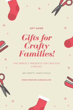 Holiday Gift Guide for the crafty family. Family Gifts, Kids Gifts, Holiday Gift Guide, Holiday Gifts, Christmas Presents, Love Food, Crafty, Creative, Ideas