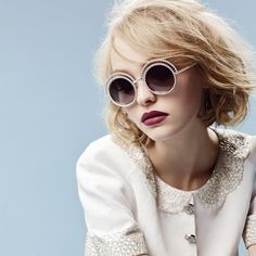 Lily-Rose Depp for Chanel Fall Winter 2015-16 Eyewear Campaign