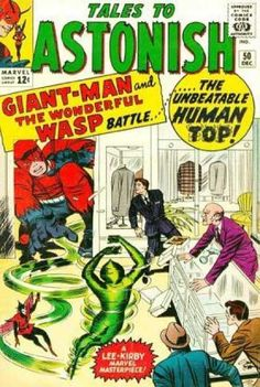 Giant Man - The Wonderful Wasp - The Human Top - Businessmen - Store - Jack Kirby