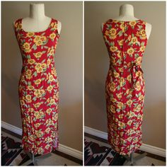 90's sunflower sleeveless dress- Size Small- grunge- floral- spring- festival wear- boho on Etsy, $20.00