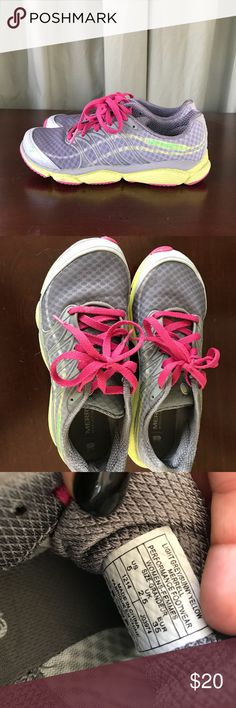 Merrell tennis shoes! Pink and gray light weight/comfy tennis shoes! Merrell Shoes Sneakers