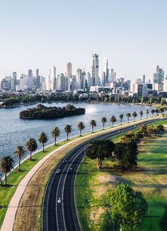 [OC] Melbourne skyline and the Grand Prix Circuit racetrack - Architecture and Urban Living - Modern and Historical Buildings - City Planning - Travel Photography Destinations - Amazing Beautiful Places Melbourne Tourism, Melbourne Australia, Australia Travel, Sidney Australia, Places Around The World, Around The Worlds, Wonderful Places, Beautiful Places, Backgrounds