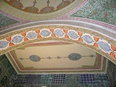 Beautiful tile in the Imperial Council Room - Topkapi Palace