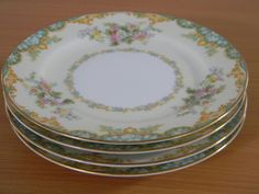 Lot of 4 #Noritake Jasmine Bread & Butter Plates