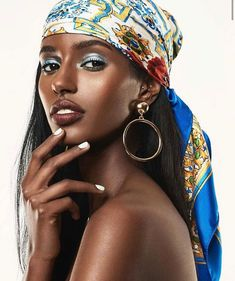 I Love Black Women, Black Is Beautiful, Most Beautiful Women, Turbans, Blood In My Eyes, African Head Wraps, Black Girl Makeup, Dark Skin Makeup, Black Girl Magic