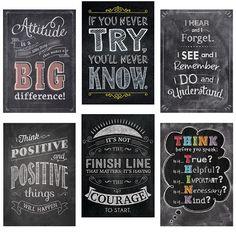 Inspire U Chalk Posters 6-Pack (CTP7425) #classroom #decor #AILtyler
