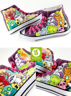 I'd love these. | Animal Chuckz by Bobsmade.deviantart.com on @deviantART