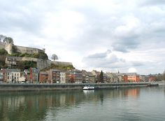 Namur (Belgium), the Meuse river, the citadel, the city and the walloon parliament.
