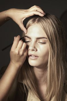 Cara Delevingne behind the scenes of the Burberry Beauty Spring/Summer 2012 campaign
