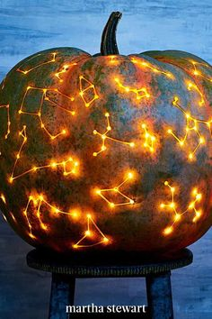 If you want a stellar display, this one's got astronomical potential to light up your front porch or window. Follow our easy tutorial for this star-themed pumpkin this Halloween. #marthastewart #pumpkins #diypumpkins #falldecor #halloween Halloween 2020, Fall Halloween, Halloween Pumpkins, Diy And Crafts, Arts And Crafts, Best Pumpkin, Holiday Fun, Festive, Things To Come