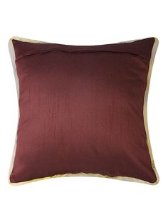 Buy Wine Dupion Silk Cushion Cover (16in x 16in) Online at Jaypore.com Cushion Pillow, Bed Pillows, Cushions, Little Prayer, Dupion Silk, Shopping Coupons, Pillow Covers, Wine, Stuff To Buy