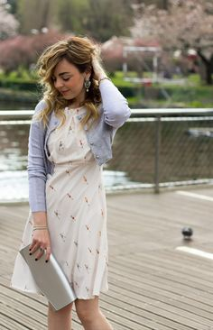 look di primavera dressing&toppingsSpring outfit with a romantic dress www.dressingandtoppings