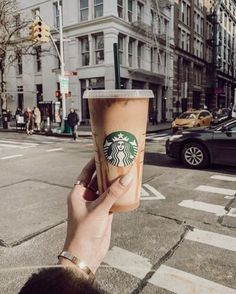 Starbucks in the city! Coffee Is Life, I Love Coffee, Hot Coffee, Coffee Drinks, Coffee Shop, Iced Coffee, Ninja Coffee, Coffee Break, Starbucks Art